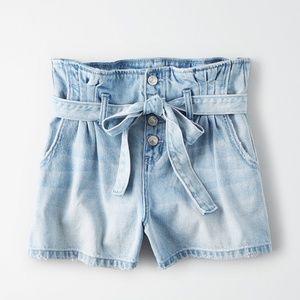 Ae paper bag high waisted shorts